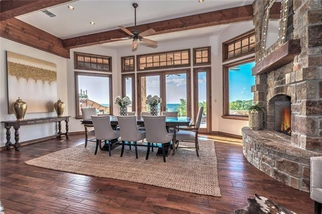 Dining room with picturesque views
