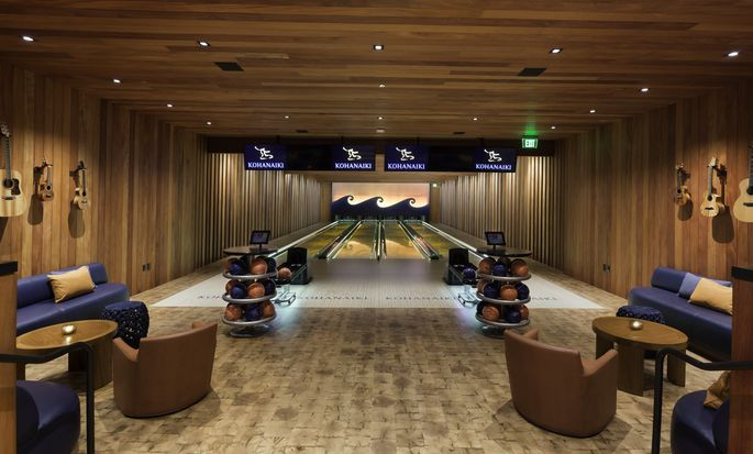 Bowling alley in clubhouse