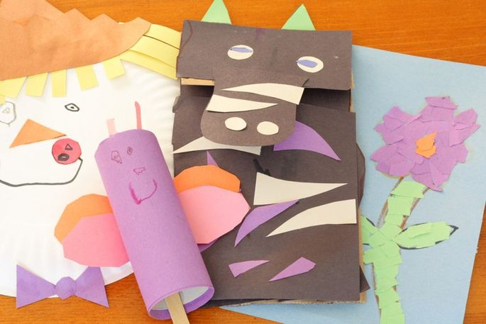 Paper bag puppets are fun crafts for any child.