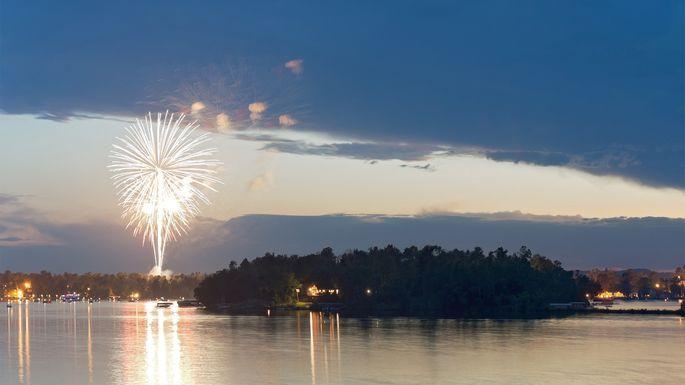 Fireworks over Gull Lake in Brainerd, MN