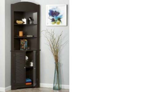 RiverRidge Home Ellsworth Corner Etagere, Tall, Espresso