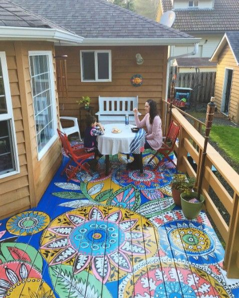 Why overlook the patio floor when it comes to crazy paint?