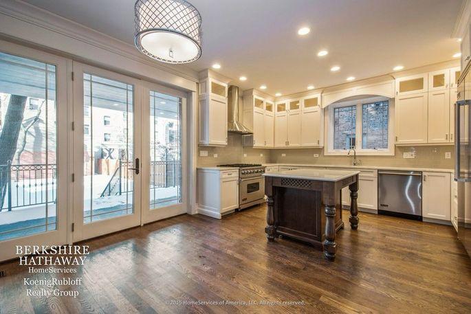The spacious open-plan kitchen