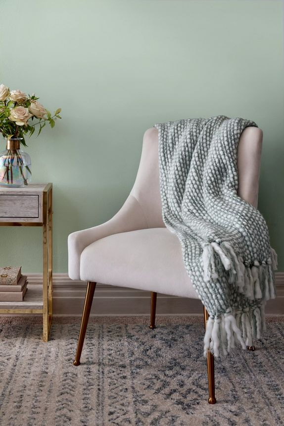 Channel serenity at home with this delicate light green.