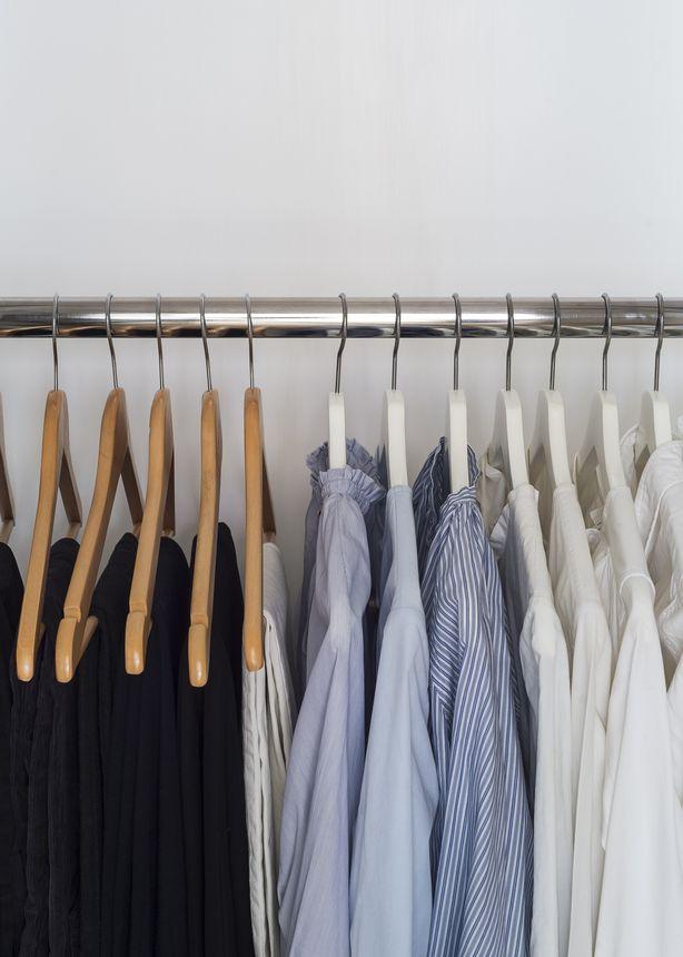 Leave a decent amount of space between hangers