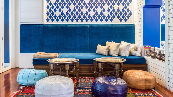 Moroccan Design Ideas view in gallery purple is a perfect hue of a moroccan themed room with a modern appeal Moroccan Design Prasit Photogetty Images