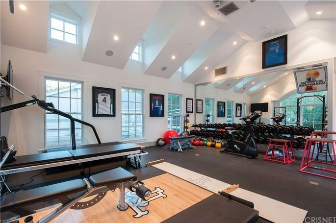 Gym with high ceiling