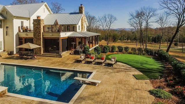 Pool and putting green