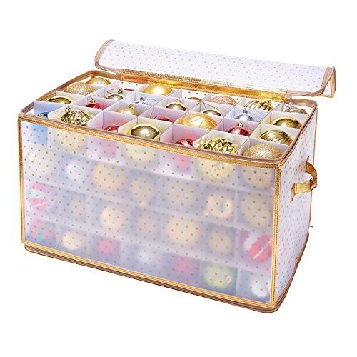 Keep 112 Christmas baubles safely (and neatly) packed in this storage box.