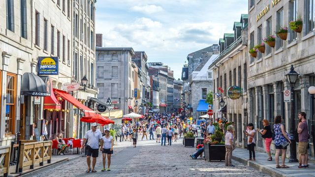 The rue Saint-Paul in Montreal