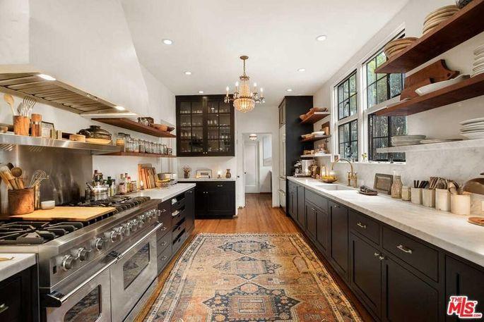 Vintage kitchen with modern appliances