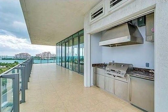 Patio with grill area