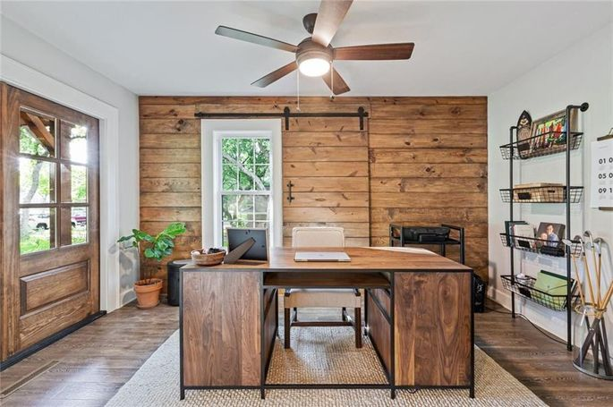 Office with shiplap