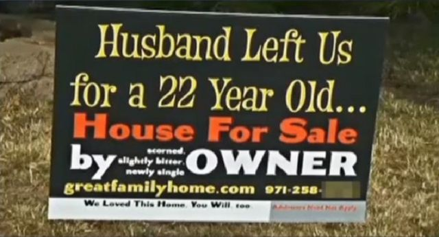 funny for sale signs