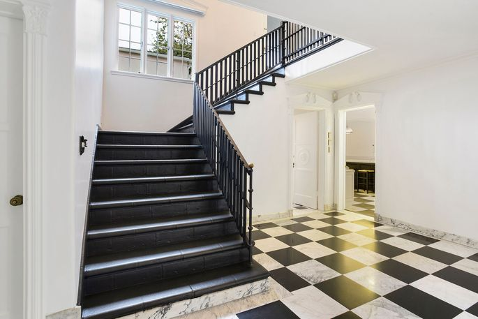Original checkerboard foyer