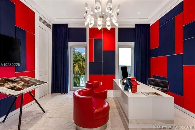 Red and blue office