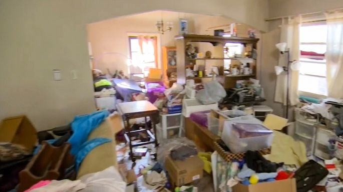 The house, which was purchased sight unseen, is filled with trash.
