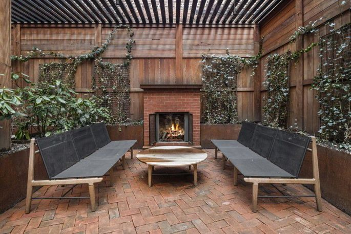 Fireplace on the terrace