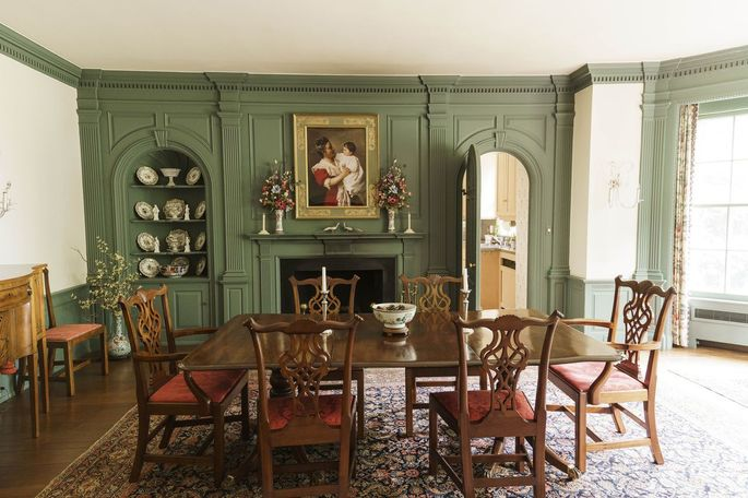 The home's dining room. Mrs. Scannell Bryson, who died earlier this year, grew up in the home, and then moved back with her own family in the 1970s.