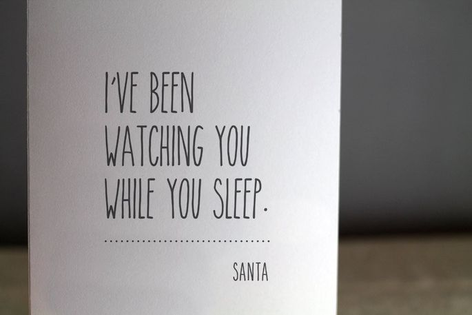 Notes from Santa aren't always nice.
