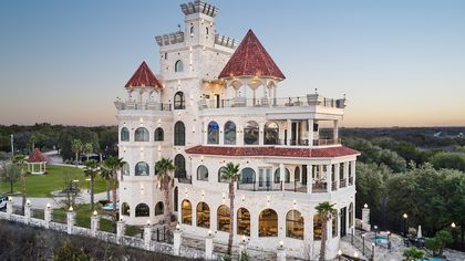 $6.5M Lakefront Castle in Texas Is Designed for a Party-Loving Owner