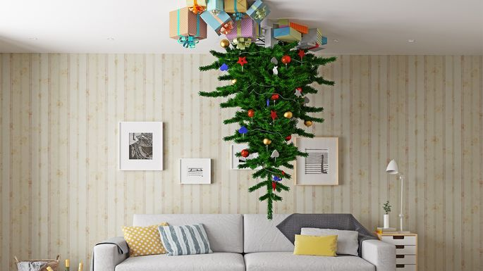 Upside Down Christmas Tree Ideas.Pet Proofing Christmas Trees 8 Ideas You Have To See To
