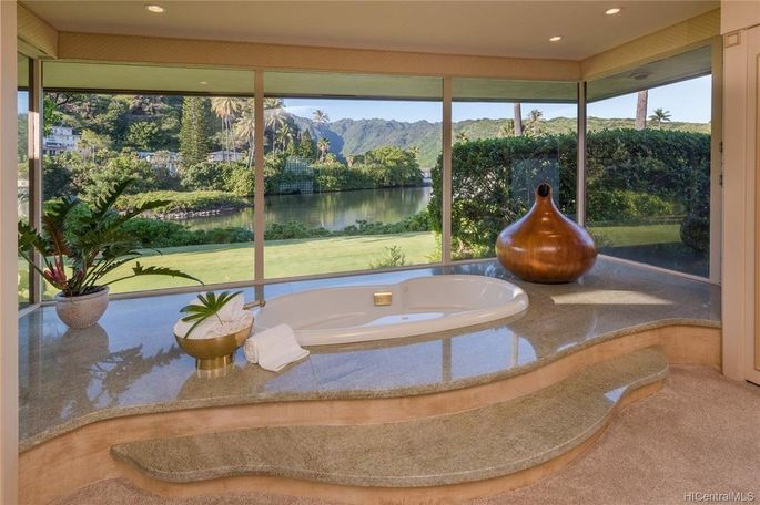 Tub with water views