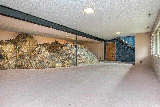 Boulders in the basement.