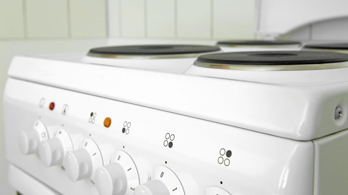 White stoves look outdated.