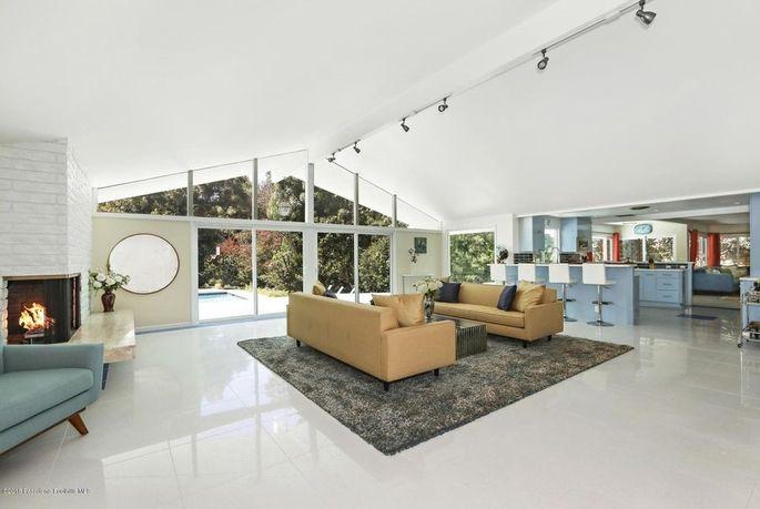Terrazzo marble flooring