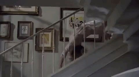 """The creepy stairs scene in """"The Exorcist."""""""