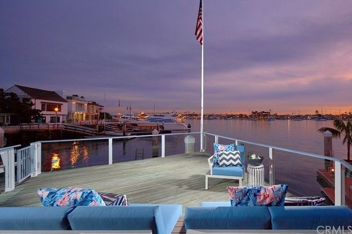 Deck with views of Newport Harbor