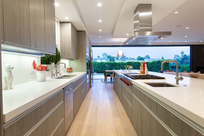 A true chef's kitchen with 24-foot-long island