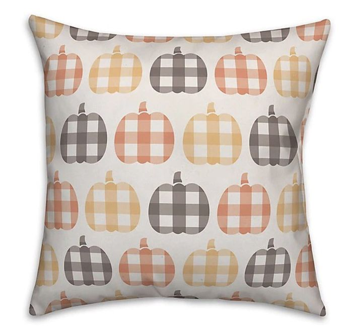 A sweet checked pattern enhances any couch or accent chair.