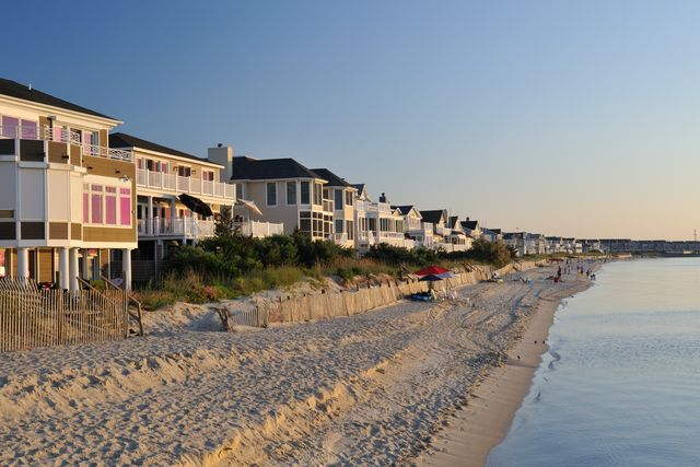 Homes on the beach in Lewes, DE