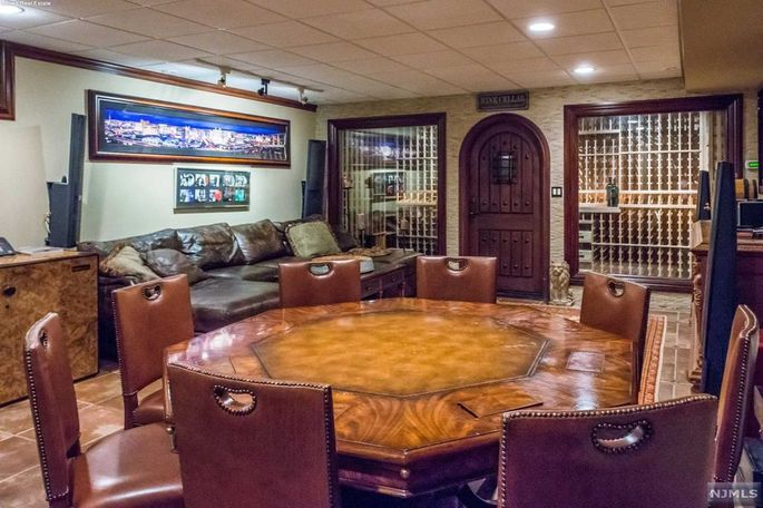 Wine cellar and poker room