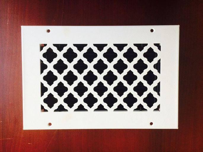 An intricate vent cover is big on details.