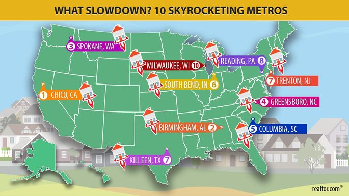 10 skyrocketing metros