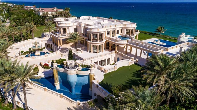 Oceanfront Mansion Once Asking $159M Sold at Auction for