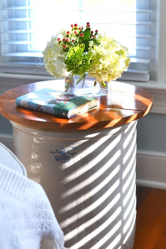 This cute bedside table took less than an hour to make.