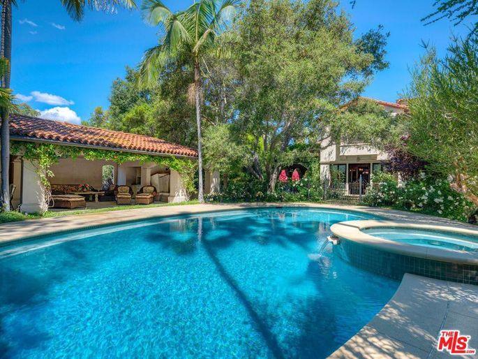 Pool with cabana