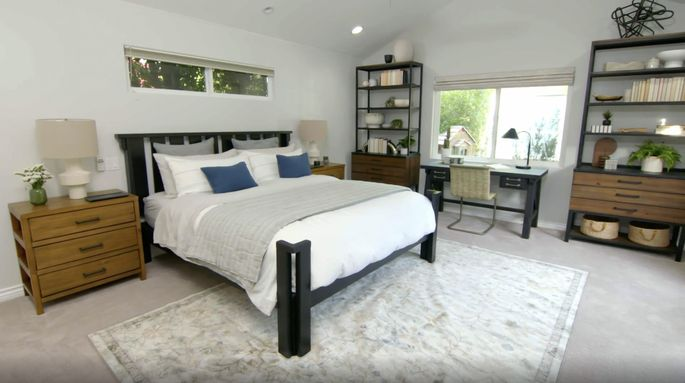 After: This bed frame's refreshed look makes the whole bedroom look better.