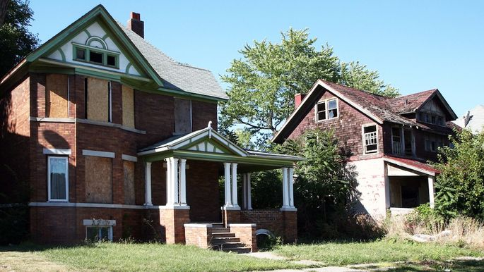 Abandoned home in Detroit, Michigan