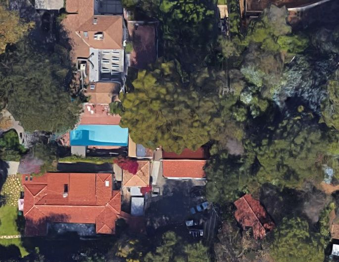 Satellite view of the compound