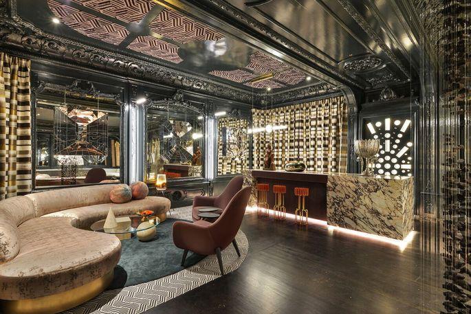Ballroom-turned-nightclub (design by Vernon Applegate and Gioi Tran)