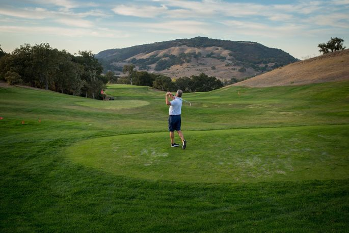 Mr. Cole on the golf course at Santa Lucia Preserve.