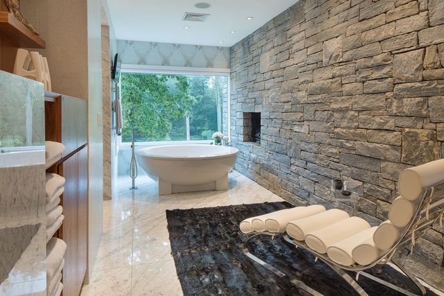 Main bath in NY home of Equinox co-founder