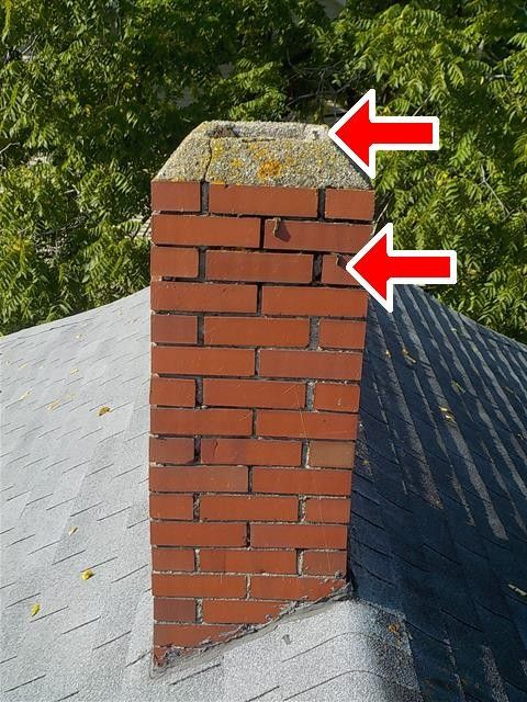 This chimney has not one, but two big issues.