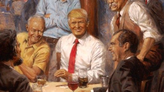 President Trump's New White House Painting Is Hiding a Surprising 'Feminist Message'