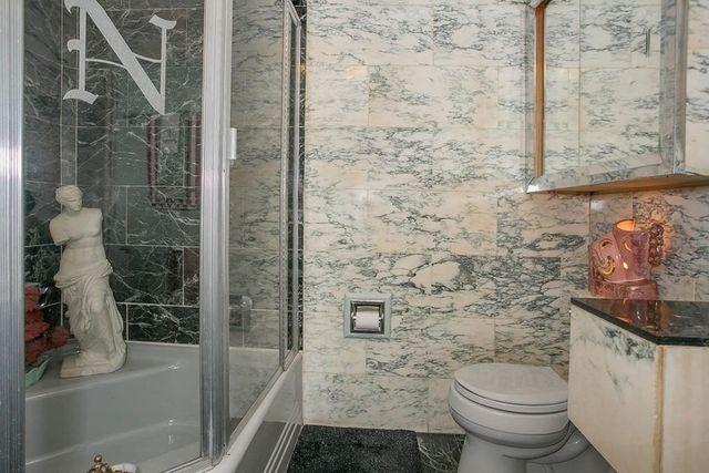 Marble bath Bedford MA house